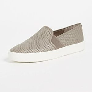 Vince Blair grey perforated leather sneakers 10